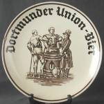 Click here to enlarge image and see more about item BREWAD49: Vintage Dortmunder Union Bier Charger Plate