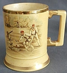 Click here to enlarge image and see more about item BREWSTE34: Vintage English Baseball Scenes Beer Mug