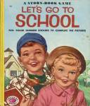 Click here to enlarge image and see more about item BW19: Vintage A Story-Book Game Let's Go To School