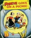 Click here to enlarge image and see more about item BW52: Vintage Popeye Goes On A Picnic Wonder Book