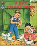 Click here to enlarge image and see more about item BW8: Vintage A Day On the Farm Elf Book
