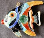 Enamel Angelfish Christmas Ornament