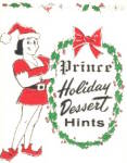 Prince Castle Holiday Dessert Hints Rare