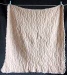 Click here to enlarge image and see more about item CCVCB2: Vintage Knit Wool Baby Blanket