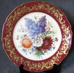 Click here to enlarge image and see more about item CDC2: Vintage Czechoslovakia Hand Painted Floral Plate