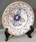 Click here to enlarge image and see more about item CDC5: Czechoslovakia Hand Painted Blue Flower Bowl
