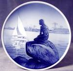 Click to view larger image of The Little Mermaid: Royal Copenhagen Plate (Image1)