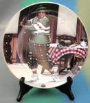 Click here to enlarge image and see more about item CDCP20: The Golfer Jackie Gleason Honeymooners Plate