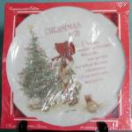 Click here to enlarge image and see more about item CDCP21: Holly Hobbie Christmas Plate 1978