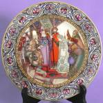 Vintage Russian Fairy Tale Plate The Snowmaden