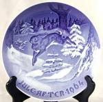 "Bing and Grondahl ""Fir Tree and Hare"" Plate"