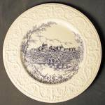 Blue and White 'Stoke on Trent' Plate