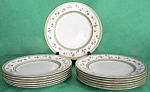 Click here to enlarge image and see more about item CDG76: Vintage Marshall Fields Rose Plates