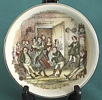 Click to view larger image of Vintage Wood & Sons Dickens Plates Set of 2 (Image1)