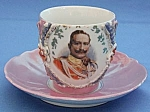 Click to view larger image of Victorian King George Large Cup and Saucer (Image1)