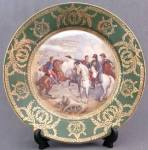 Click here to enlarge image and see more about item CDVHP64: Vintage Hand Painted & Signed Napoleon Plate