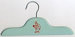 Click here to enlarge image and see more about item CD9: Vintage Clown Blue Wooden Child's Clothes Hanger