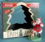 Click here to enlarge image and see more about item CF36: Coca Cola Trim a Tree Ornament Santa & Dog Sshhh!