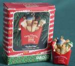 Enesco Festive Fries Christmas Miniature Ornament