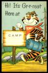 VIntage Tony The Tiger Gr-r-reat Camp Postcard