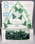Click here to enlarge image and see more about item CG1: Vintage Green Plastic Bell Garland