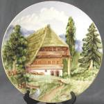 Click here to enlarge image and see more about item CHPD14: Vintage 3D Mountain Scene Plate