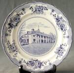 Click here to enlarge image and see more about item CHPD8: Vintage Buffalo Pottery Mt. Vernon Plate