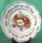 Click here to enlarge image and see more about item CHPDF5: Give Us This Day Our Daily Bread Pierced Handle Plate