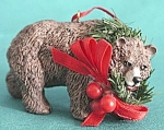 Click here to enlarge image and see more about item CHRISFIGA145: Brown Bear Christmas Ornament