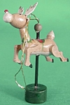 Click here to enlarge image and see more about item CHRISFIGA132: Vintage Wooden Carrousel Reindeer Ornament