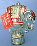 Click here to enlarge image and see more about item CHRISFIGA134: Large Mercury Glass Elephant Christmas Ornament