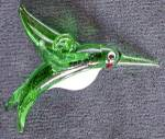Click here to enlarge image and see more about item CHRSVFIGO4: Glass Hummingbird Christmas Ornament