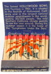 Click here to enlarge image and see more about item CIG40: Hollywood Bowl Matchbook