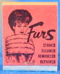 Vintage Furs Matchbook