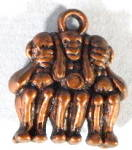 Click here to enlarge image and see more about item CMA31: Vintage See Hear Speak No Evil Monkeys
