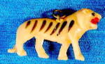 Click here to enlarge image and see more about item CMA34: Vintage Celluloid Tiger Charm