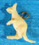 Click here to enlarge image and see more about item CMA40: Vintage Celluloid Kangaroo Charm