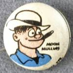 Click here to enlarge image and see more about item COMGEN68: Vintage Moon Mullins Kellogg's Pep Pin Back Button