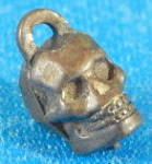 Click here to enlarge image and see more about item CSK7: Vintage Metal Skull Charm