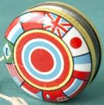 Click to view larger image of Vintage Tin Yo Yo and Rattle  (Image2)