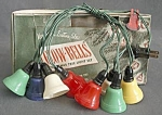 Vintage Plastic Bell Christmas Lights