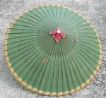 Click here to enlarge image and see more about item CWVGEN10: Vintage Oriental Paper Umbrella