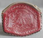 Vintage Leather Coin Purse with American Indian