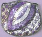 Vintage Purple & Silver Sequin Purse