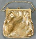 Click to view larger image of Vintage Whiting & Davis Gold Mesh Evening Purse (Image1)