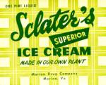 Vintage Sclater's Vanilla Ice Cream Carton