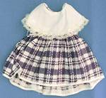 Click here to enlarge image and see more about item DACA4: Vintage Blue & White Check Dress