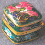 Click here to enlarge image and see more about item DH24: Vintage Tiny Enamel Box