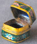 Click to view larger image of Vintage Tiny Enamel Box (Image2)