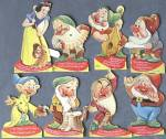 Click here to enlarge image and see more about item DISGEN30: Vintage Walt Disney Snow White Valentines Complete